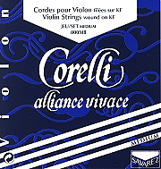 Corelli Alliance Vivace Violin Set ( E String Ball End)