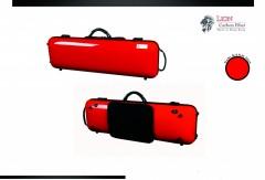 Lion Carbon Fiber Slight-1800 Violin Case (Red)