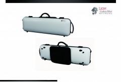 Lion Carbon Fiber Slight-1800 Violin Case (White)