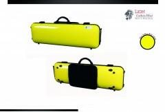 Lion Carbon Fiber Slight-1800 Violin Case (Melon Yellow)
