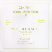 W.E. Hill & Sons Violin E String (Loop End)
