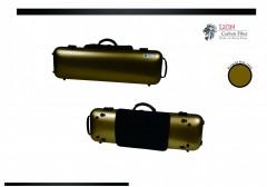 Lion Carbon Fiber Slight-1800 Violin Case (Gold)