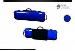 Lion Carbon Fiber Slight-1800 Violin Case (Gentian Blue)
