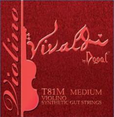 Vivaldi Violin Set w/Silver D ( E String Ball End)